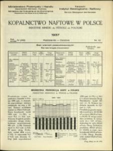 Kopalnictwo Naftowe w Polsce : 1937 : nr 10
