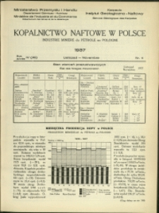 Kopalnictwo Naftowe w Polsce : 1937 : nr 11