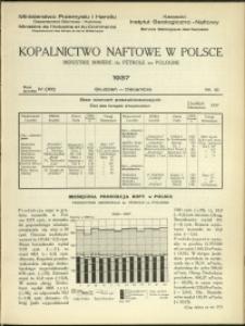 Kopalnictwo Naftowe w Polsce : 1937 : nr 12