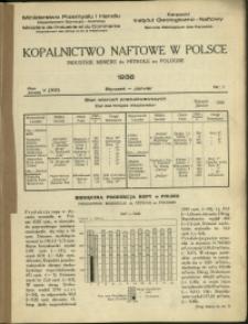 Kopalnictwo Naftowe w Polsce : 1938 : nr 1