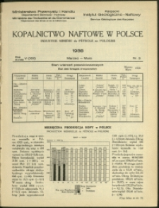 Kopalnictwo Naftowe w Polsce : 1938 : nr 3