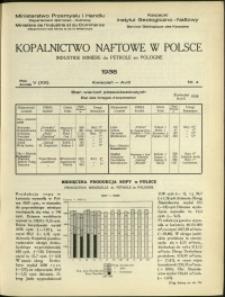 Kopalnictwo Naftowe w Polsce : 1938 : nr 4