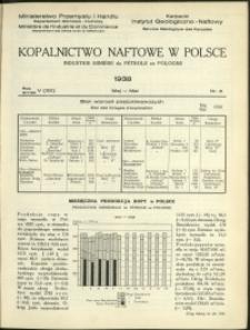 Kopalnictwo Naftowe w Polsce : 1938 : nr 5