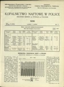Kopalnictwo Naftowe w Polsce : 1938 : nr 7