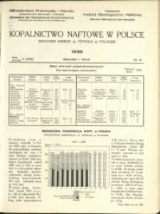Kopalnictwo Naftowe w Polsce : 1938 : nr 8