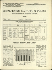 Kopalnictwo Naftowe w Polsce : 1938 : nr 9