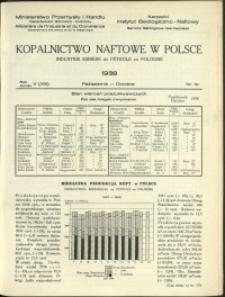 Kopalnictwo Naftowe w Polsce : 1938 : nr 10