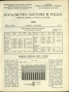 Kopalnictwo Naftowe w Polsce : 1938 : nr 11