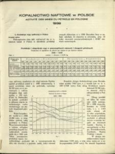 Kopalnictwo Naftowe w Polsce : 1938 : nr 12a : Sprawozdanie Roczne