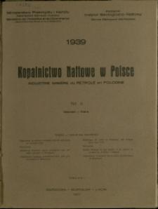 Kopalnictwo Naftowe w Polsce : 1939 : nr 3