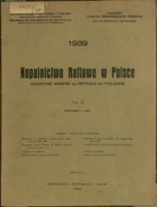 Kopalnictwo Naftowe w Polsce : 1939 : nr 6
