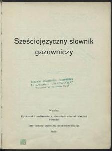 Sześciojęzyczny słownik gazowniczy