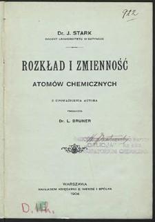 Rozkład i zmienność atomów chemicznych