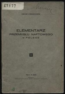 Elementarz przemysłu naftowego w Polsce