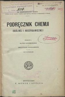 Podręcznik chemji ogólnej i nieorganicznej