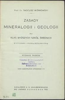Zasady mineralogii i geologii dla klas wyższych szkół średnich