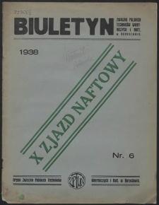Biuletyn Związku Polskich Techników Wiertniczych i Naft.[owych] w Borysławiu 1938 : z. 6