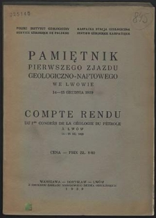 Pamiętnik Pierwszego Zjazdu Geologiczno-Naftowego we Lwowie, 14-15 grudnia 1929
