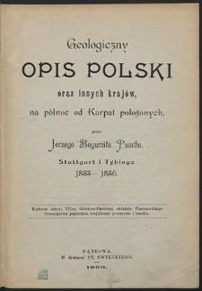 Geologiczny opis Polski oraz innych krajów na północ od Karpat położonych: Stuttgart i Tybinga 1833-1836