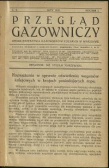 Przegląd Gazowniczy : 1921 : nr 2
