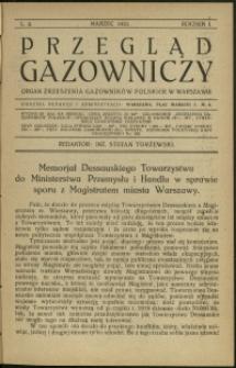 Przegląd Gazowniczy : 1921 : nr 3
