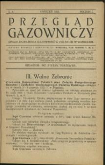 Przegląd Gazowniczy : 1921 : nr 4