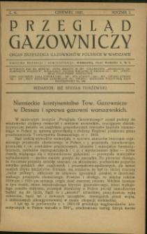 Przegląd Gazowniczy : 1921 : nr 6