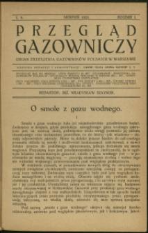 Przegląd Gazowniczy : 1921 : nr 8