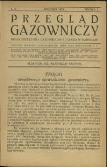 Przegląd Gazowniczy : 1921 : nr 9