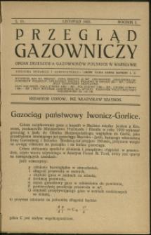 Przegląd Gazowniczy : 1921 : nr 11