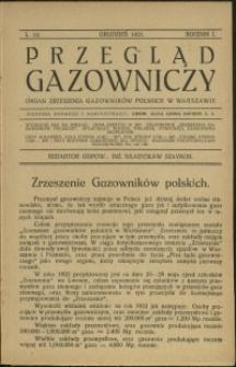 Przegląd Gazowniczy : 1921 : nr 12