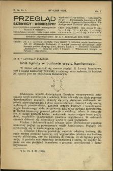 Przegląd Gazowniczy i Wodociągowy : 1924 : nr 1