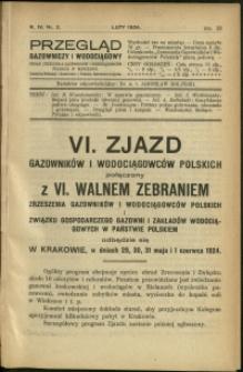 Przegląd Gazowniczy i Wodociągowy : 1924 : nr 2