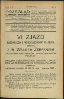 Przegląd Gazowniczy i Wodociągowy : 1924 : nr 3