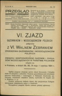 Przegląd Gazowniczy i Wodociągowy : 1924 : nr 4