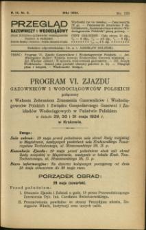Przegląd Gazowniczy i Wodociągowy : 1924 : nr 5