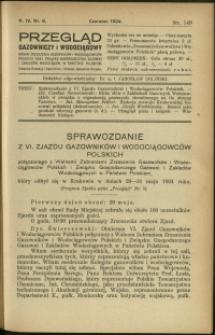 Przegląd Gazowniczy i Wodociągowy : 1924 : nr 6
