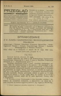 Przegląd Gazowniczy i Wodociągowy : 1924 : nr 9