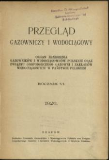 Przegląd Gazowniczy i Wodociągowy : 1926 : nr 1