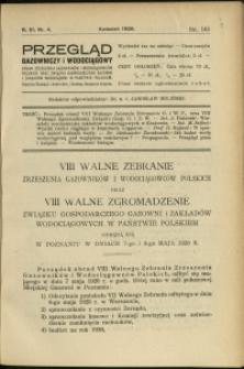 Przegląd Gazowniczy i Wodociągowy : 1926 : nr 4