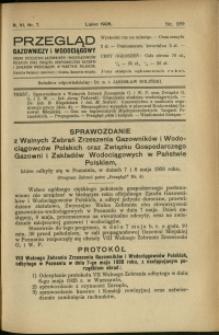 Przegląd Gazowniczy i Wodociągowy : 1926 : nr 7