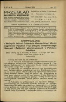 Przegląd Gazowniczy i Wodociągowy : 1926 : nr 8