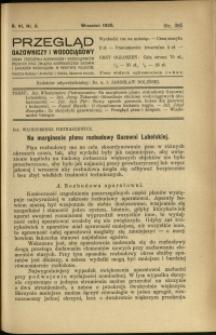 Przegląd Gazowniczy i Wodociągowy : 1926 : nr 9