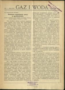 Gaz i Woda : 1928 : nr 1