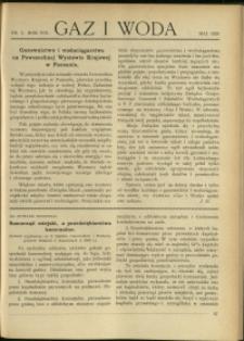 Gaz i Woda : 1928 : nr 5