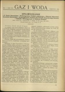 Gaz i Woda : 1928 : nr 6