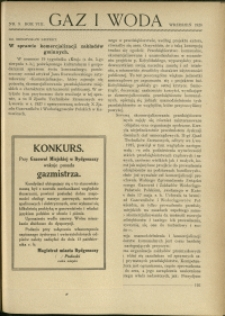 Gaz i Woda : 1928 : nr 9