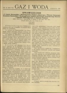 Gaz i Woda : 1928 : nr 10