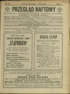 Przegląd Naftowy : 1921 : nr 5