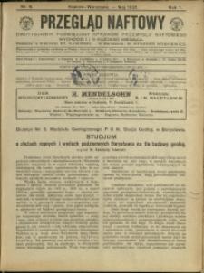 Przegląd Naftowy : 1921 : nr 6